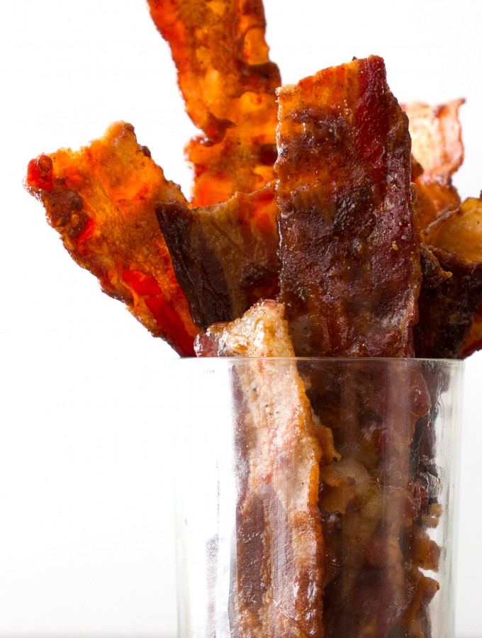 Coconut Nectar Candied Bacon Cup