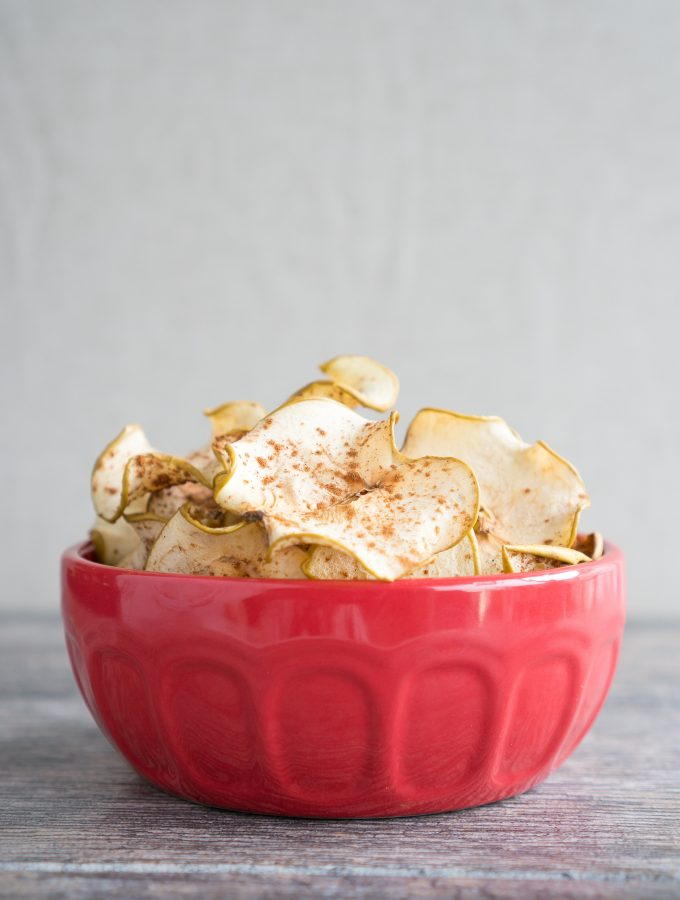 Cinnamon Spiced Apple Chips Bowl