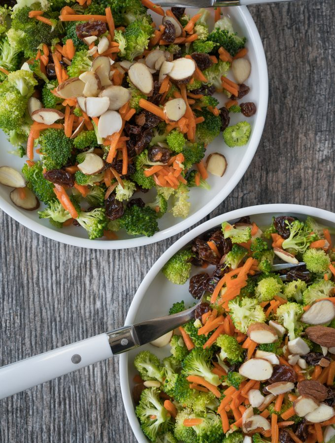 Broccoli Carrot Crunch Salad Two
