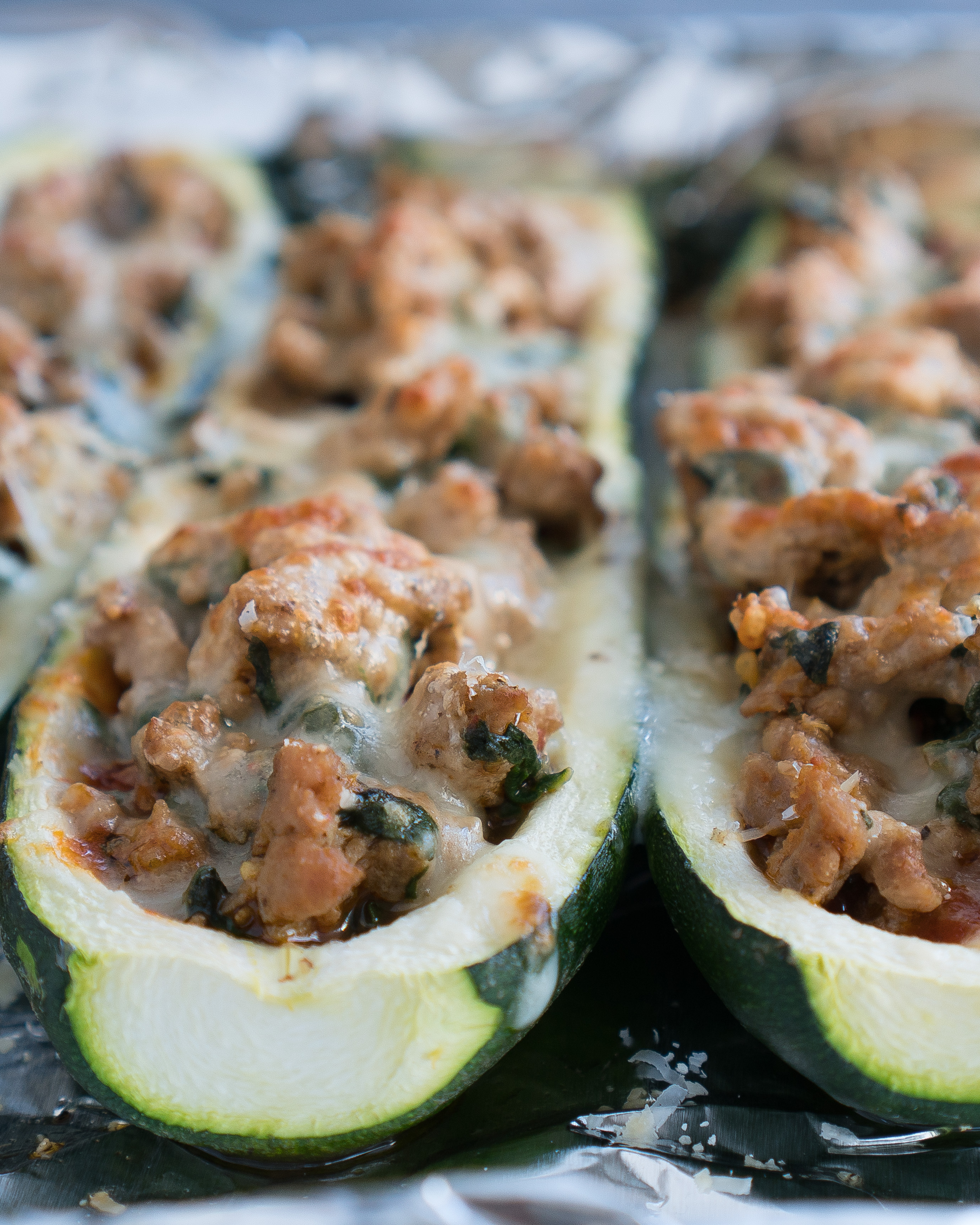 Lasagna Stuffed Zucchini Boats | Free Your Fork