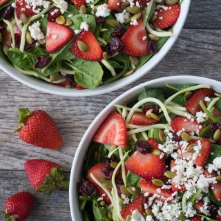Strawberry Pepita Salad + Maple Vinaigrette