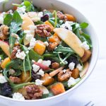 Roasted Butternut Squash Salad Walnuts
