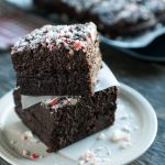 Peppermint Mocha Brownies Stacked