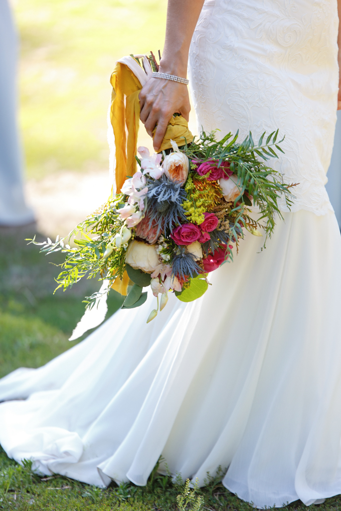 Katie May Monaco Gown // Bouquet by Mums N' Roses - photo by Steve Dutcher Photography
