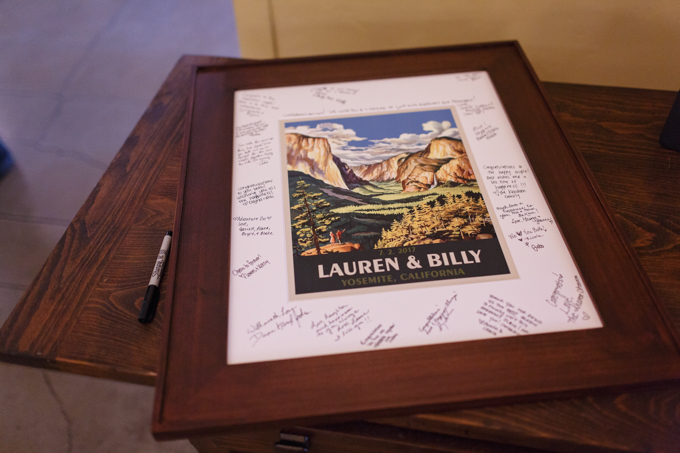 Guestbook poster print by Cloud 9 Keepsakes // Yosemite Wedding - photo by Steve Dutcher Photography