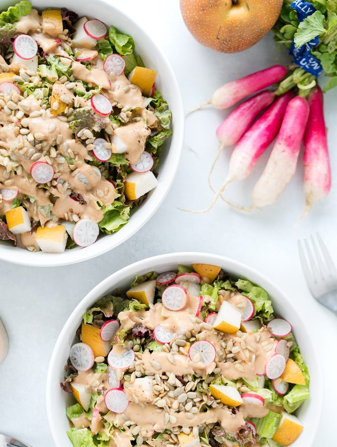 Asian Pear Salad with Radishes