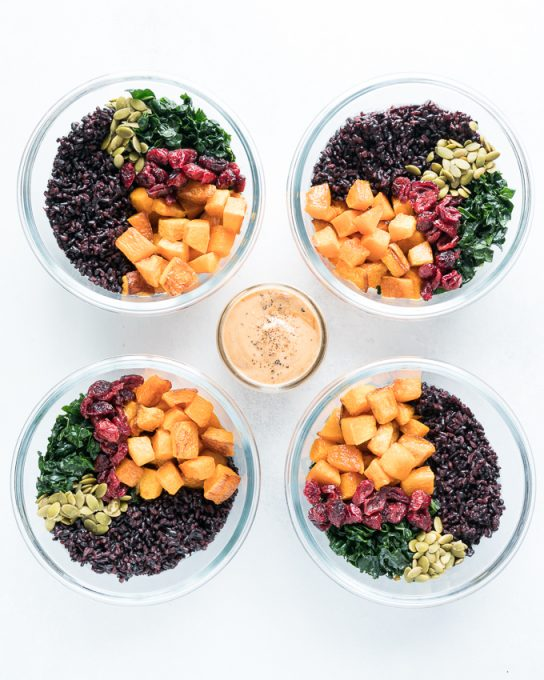 Black Rice and Butternut Squash Bowls (Meal Prep)