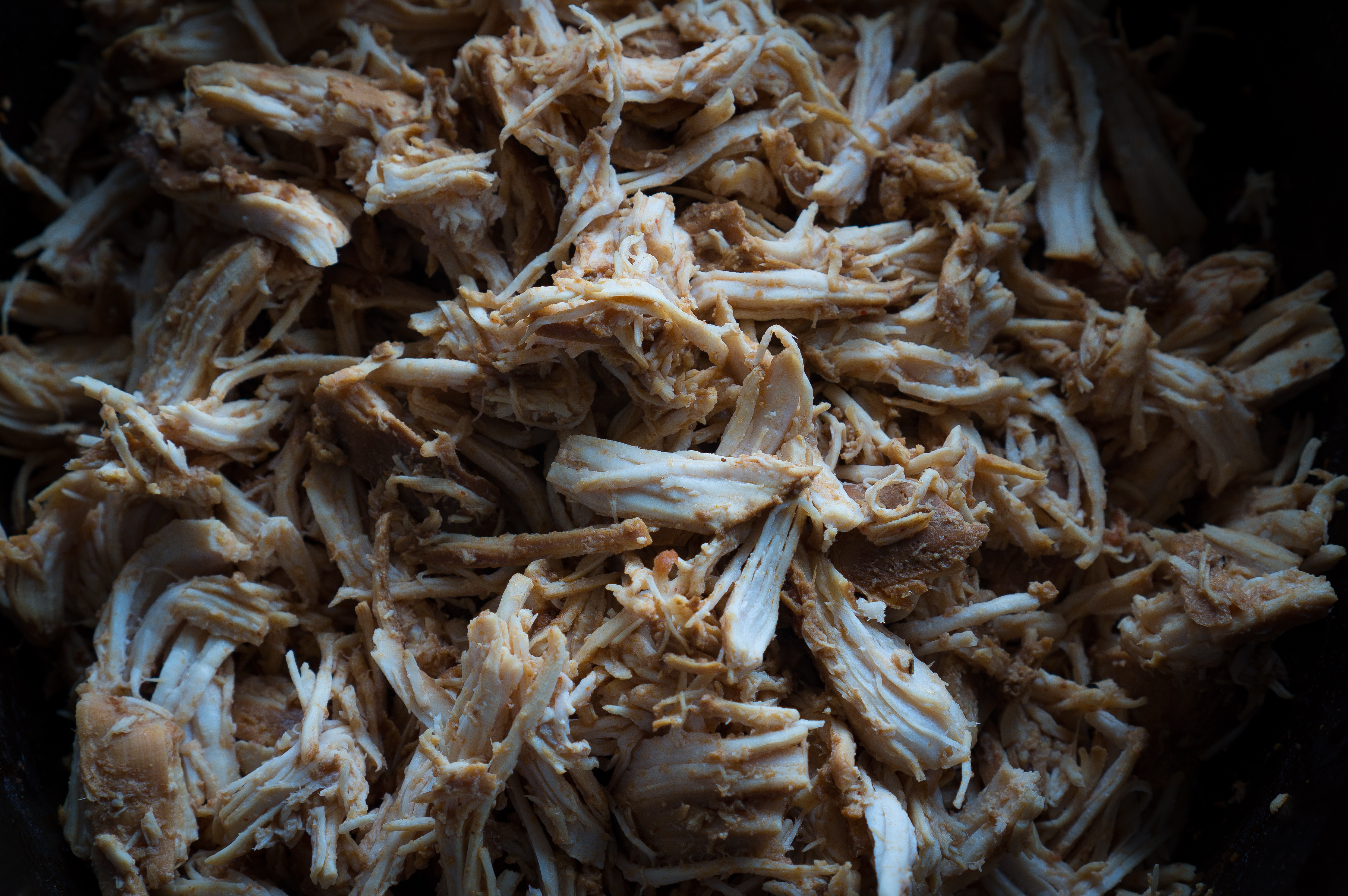 Easy Crockpot Pulled Chicken - This gluten-free recipe for Easy Crockpot Pulled Chicken is easy eats! Lean, protein-packed chicken breasts are made in the slow cooker with apple cider vinegar, tomato sauce, Worcestershire sauce, molasses, and smoked paprika. We love using this tender shredded chicken in enchiladas, tacos, lettuce wraps, sandwiches, and salads ♥ | freeyourfork.com