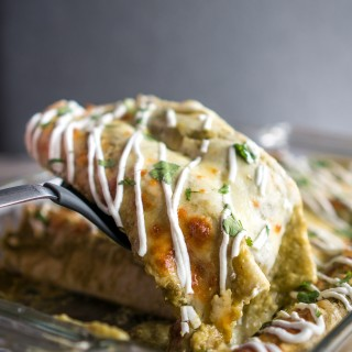 Chicken Spinach Enchiladas