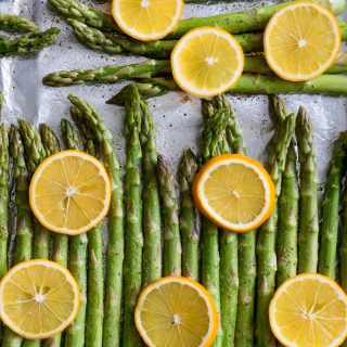 Baked Lemon Pepper Asparagus Raw