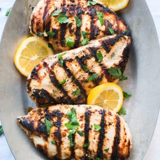 Yogurt Marinated Greek Chicken Parsley