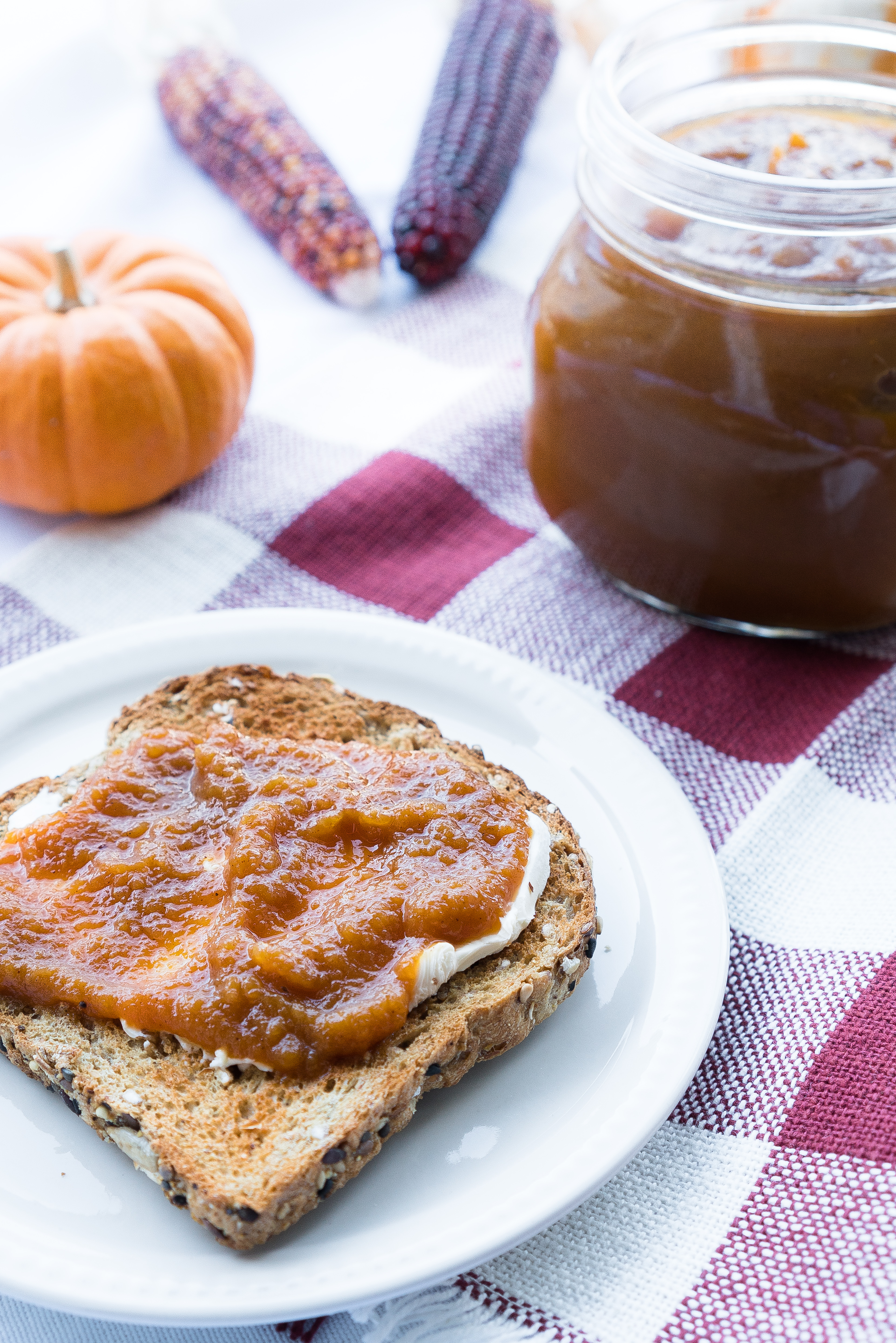 Apple Pumpkin Butter – Easy stove-top recipe for Apple Pumpkin Butter! Pumpkin puree, applesauce, maple syrup, brown sugar, and lemon juice are simmered together with cinnamon & spices. Perfect for holiday gifting or a touch of seasonal sweetness at breakfast! ♥ | freeyourfork.com