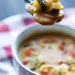 Creamy Vegetable Soup Spoon