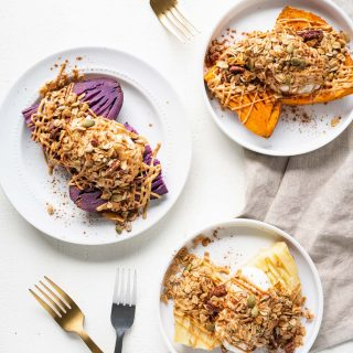Dessert Stuffed Sweet Potatoes