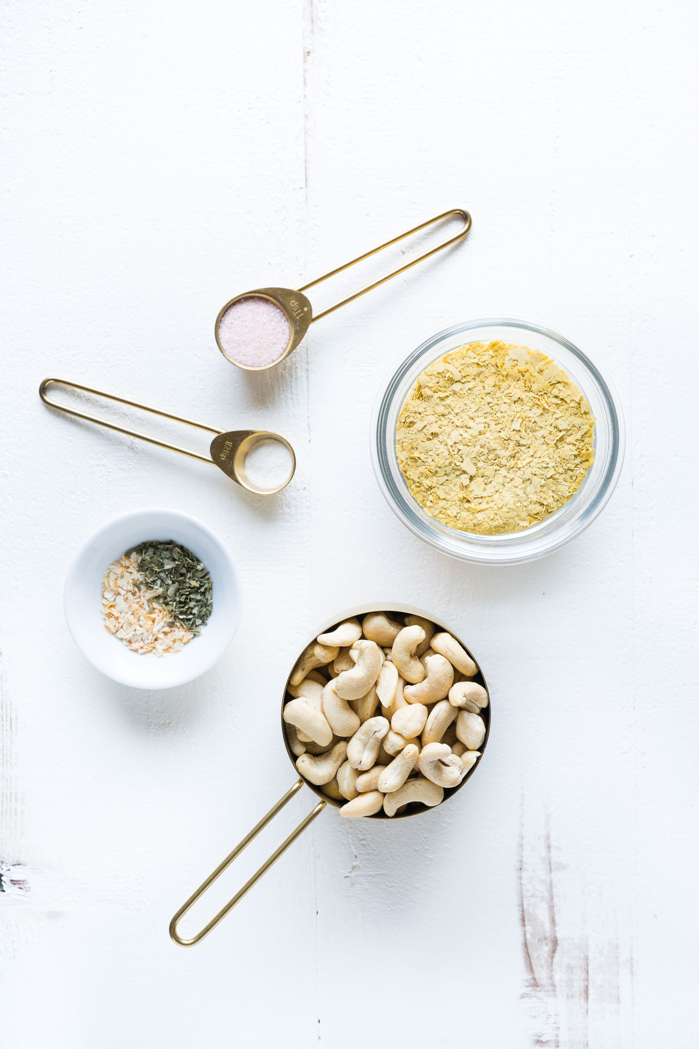 Vegan Parmesan Cheese Ingredients On Table