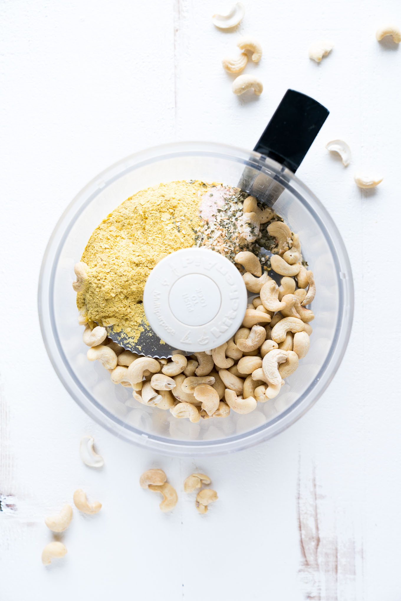 Vegan Parmesan Cheese in Food Processor