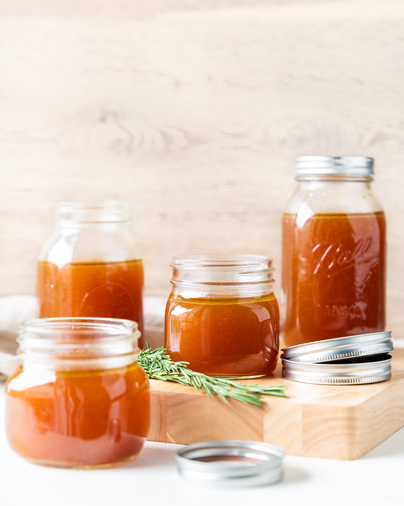 Instant Pot Bone Broth with Jars and Lids