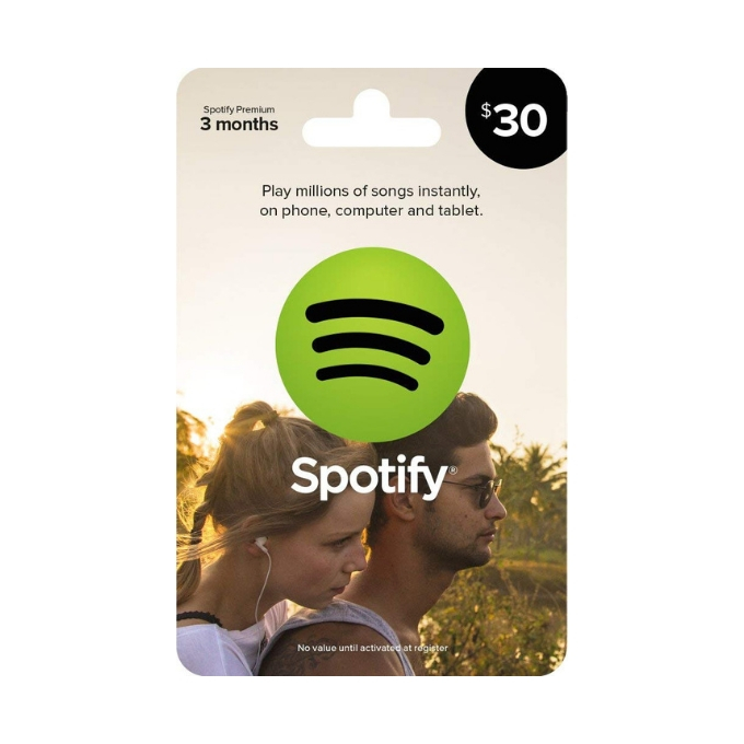 Spotify 3 month gift card