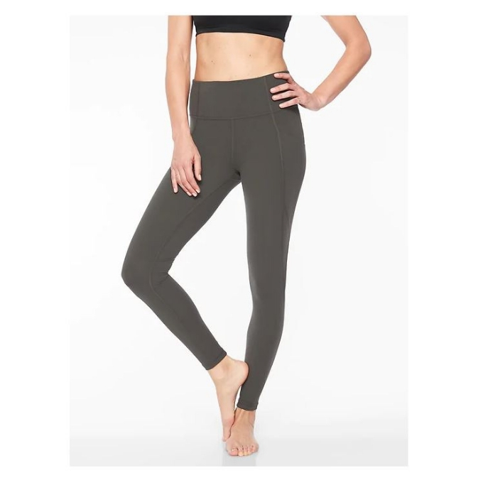Athleta dark green leggings with pockets
