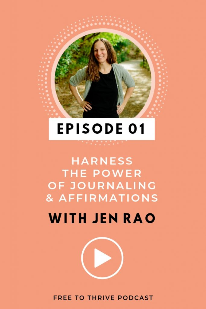 Jen Rao pinterest graphic for podcast episode 01