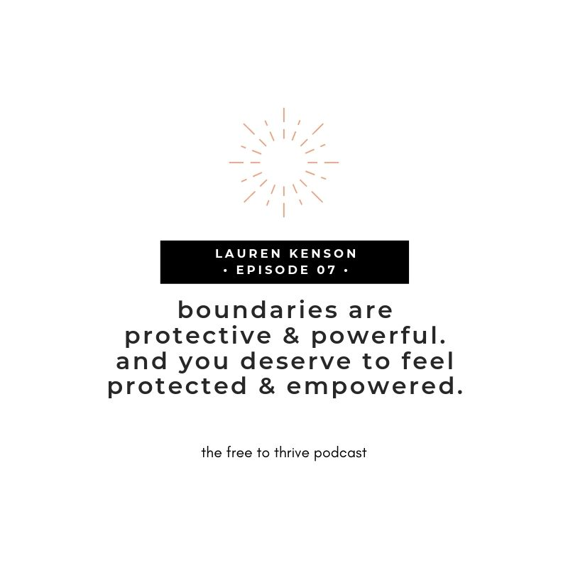 Lauren Kenson boundaries quote