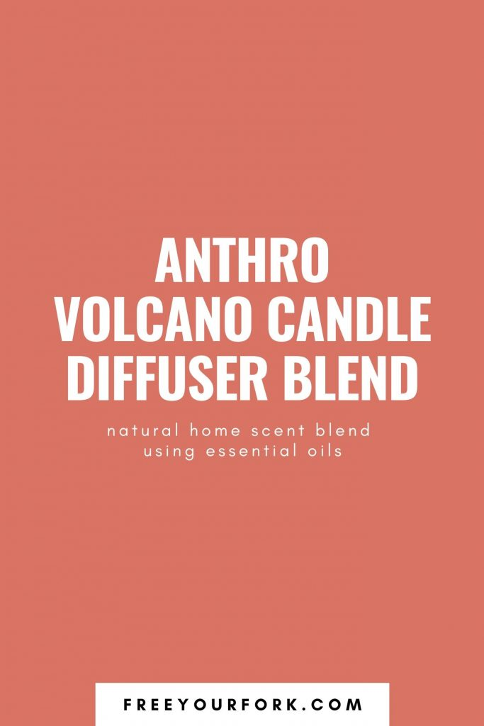 orange text image for anthro volcano candle diffuser blend